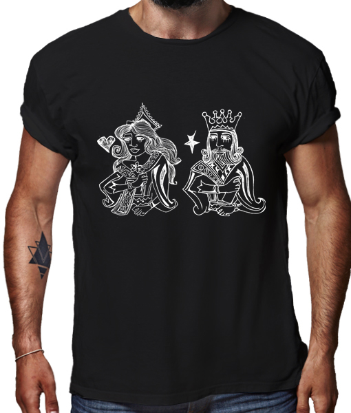Royal 2 t-shirt by artists TRAPIF & ALICE MIZRACHI for Riotandco, special 2create collection