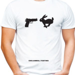 End animal testing t-shirt by riotandco
