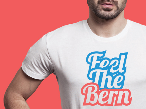 Feel the bern t-shirt by Riotandco, Bernie Sanders special edition t-shirt collection