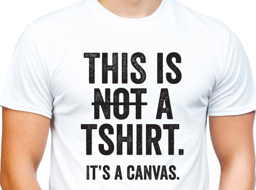 This is not a t-shirt. it's a canvas. t-shirt by Riotandco