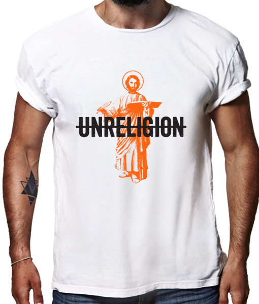 Unreligion t-shirt by Riotandco
