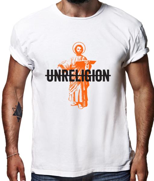 Unreligion t-shirt by Riotandco