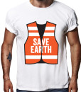 Save earth t-shirt by Riotandco, stop global warming t-shirt
