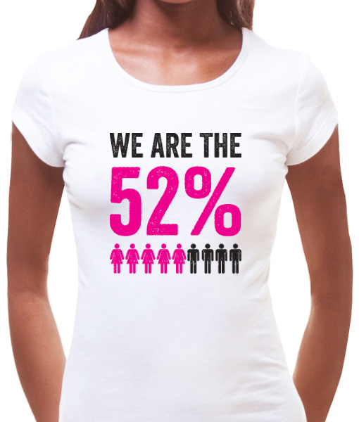 We are the 52% t-shirt by Riotandco, women's march t-shirt