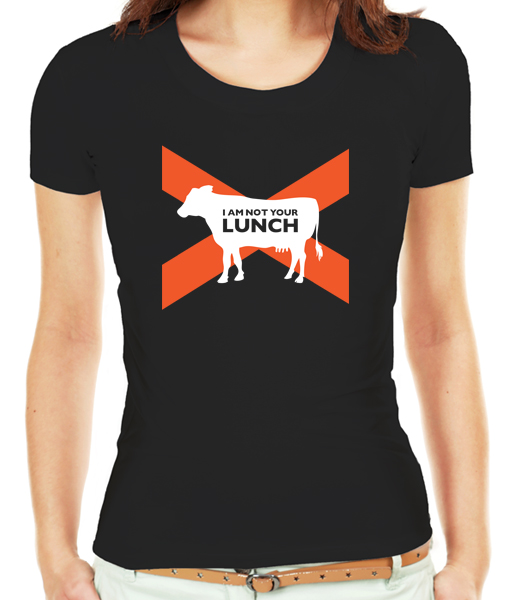 I am not your lunch, vegan t-shirt by Riotandco