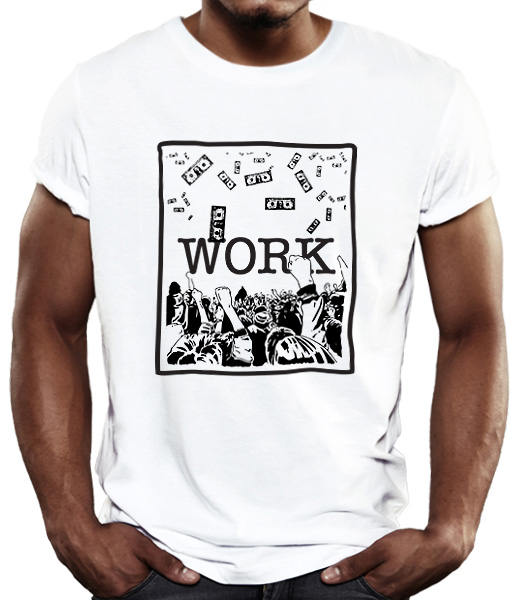 work t-shirt by Riotandco