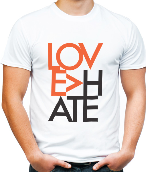 love is bigger than hate t-shirt by Riotandco, the resist project