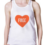 free love white tank top by Riotandco