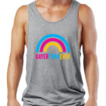 gayer than ever grey tank top by Riotandco, gay rights tank top